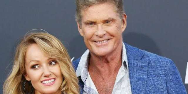 david hasselhoff hayley roberts getty