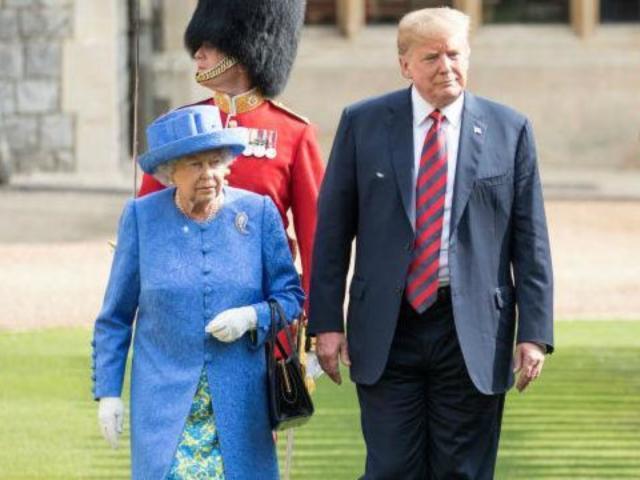 President Trump Slammed on Social Media for Walking Ahead of Queen Elizabeth