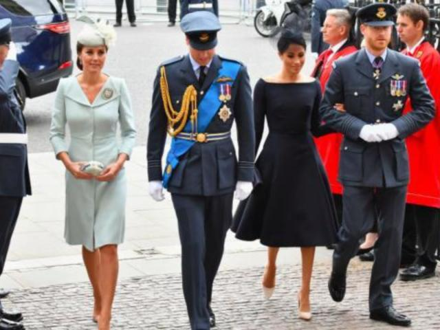 Meghan Markle Reunites With Kate Middleton for Royal Air Force Centenary