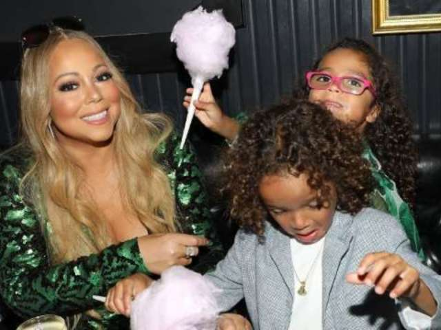 Mariah Carey's Son Moroccan Puts Plastic Bag Over His Head Onstage