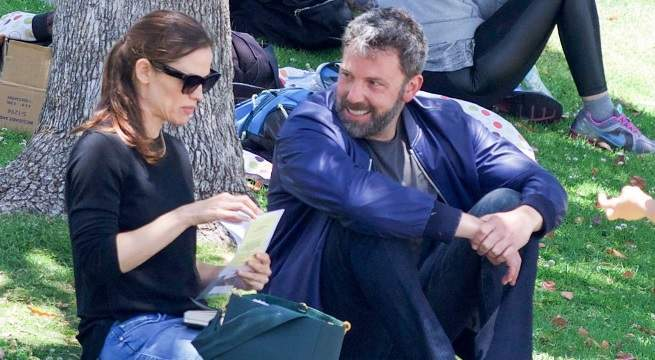 jennifer garner ben affleck together los angeles getty