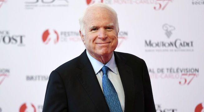 United States senator John McCain dies after battle with brain cancer