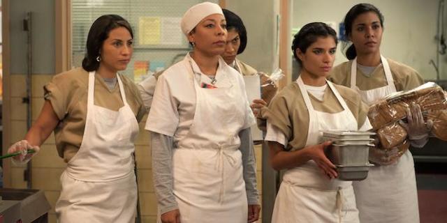 orange-is-the-new-black-oitnb-Elizabeth-Rodriguez-Selenis Leyva-Laura-Gomez-Diane Guerrero-Jessica-Pimentel-Netflix