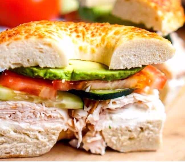 Veggie-and-Cream-Cheese-Turkey-Bagel-Sandwich-LONG-PIN copy