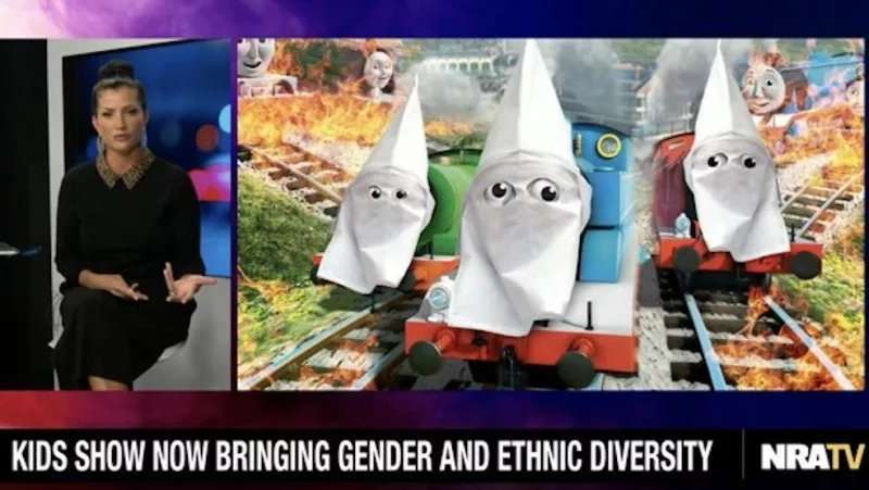 NRA TV show depicts 'Thomas and Friends' in KKK hoods