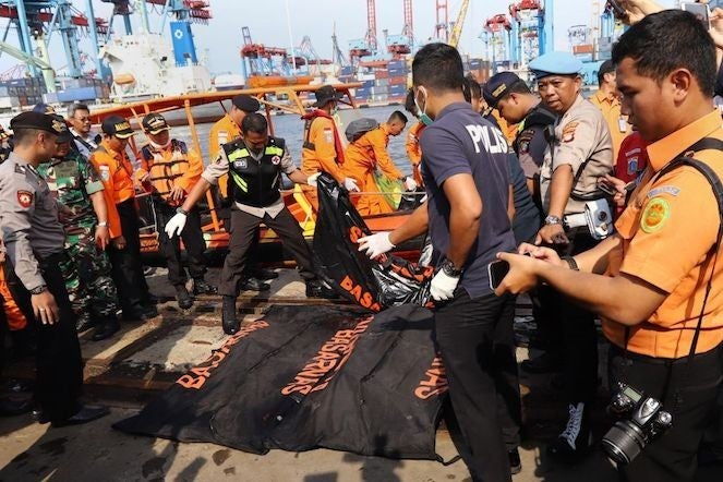 Indonesian Lion Air passenger flight crashes into sea soon after take-off