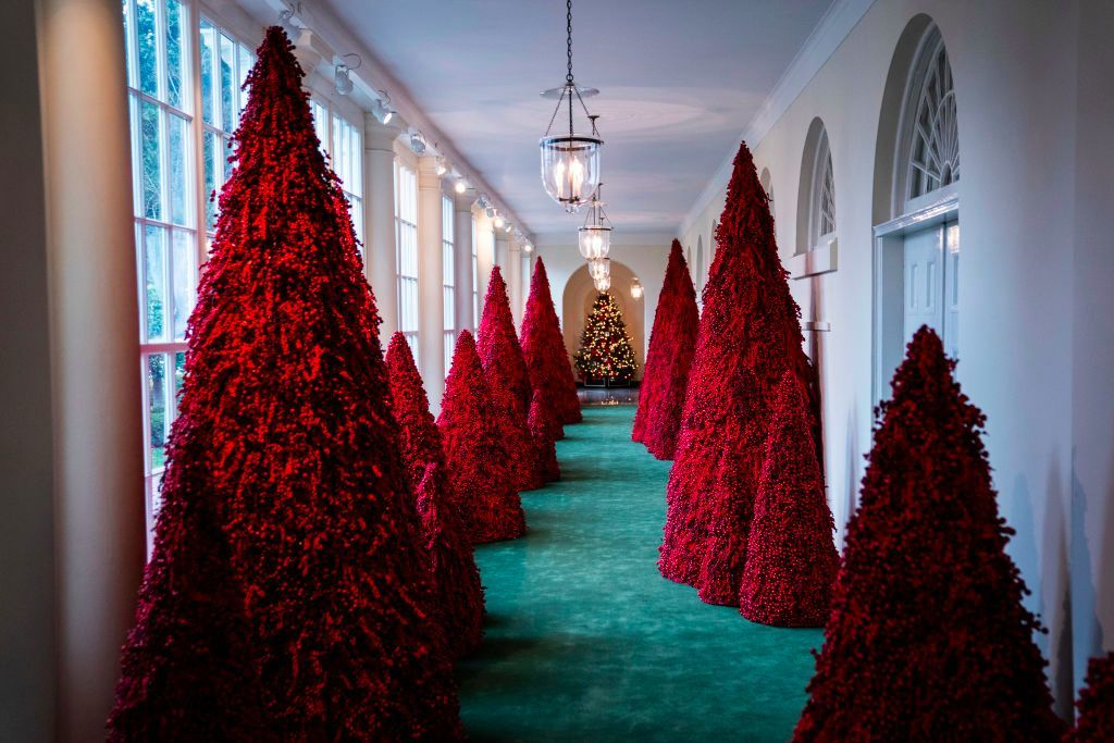 Melania Trump Is Clapping Back at Red Christmas Tree Critics