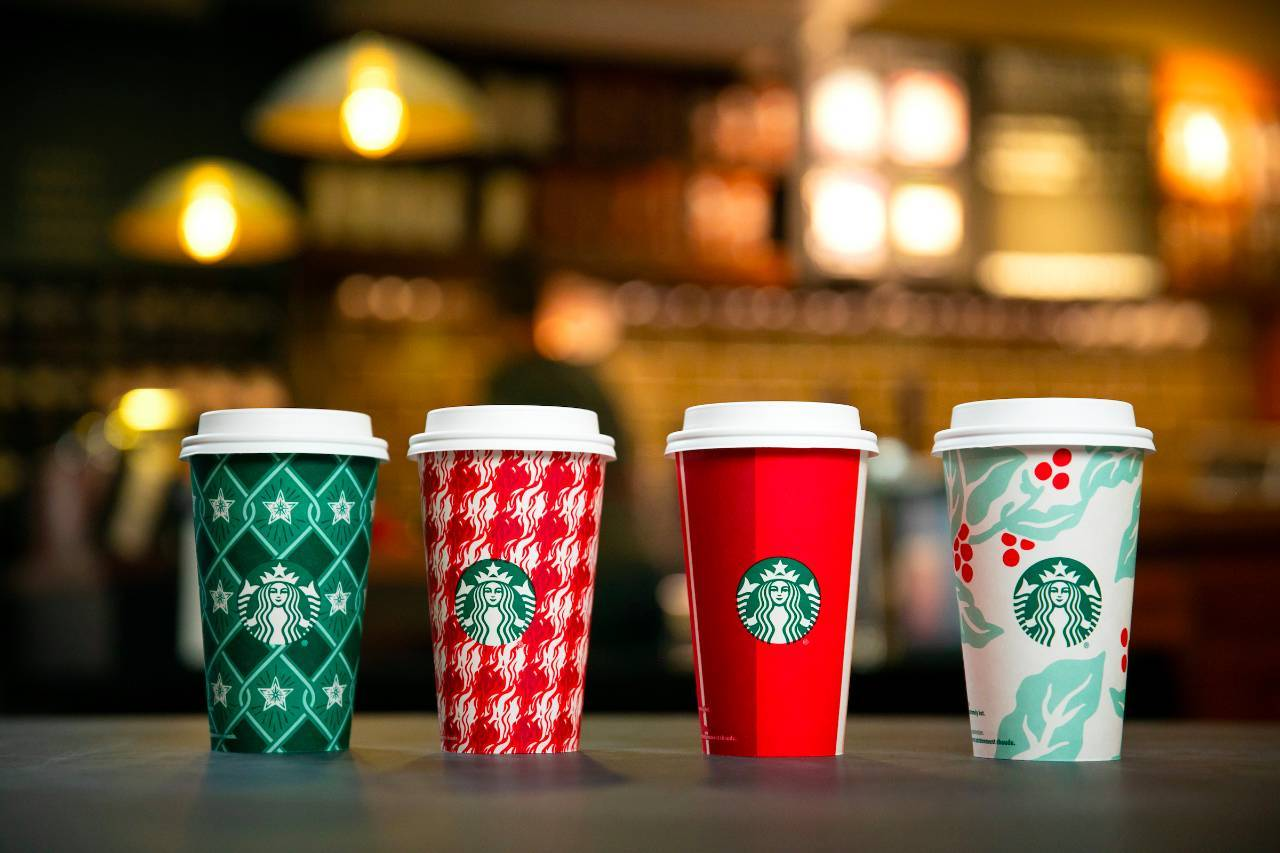 Starbucks All-New Holiday Cups Actually Have A Christmas Theme This Year