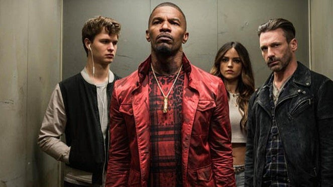 Ansel Elgort, Jamie Foxx and Jon Hamm star in Baby Driver