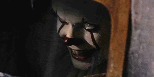 Bill Skarsgard as Pennywise the Clown in IT Movie 2017