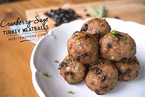 Cranberry-Sage-Turkey-Meatballs