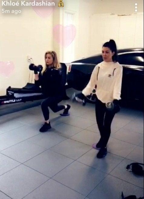 khloe kardashian pregnant workout 5