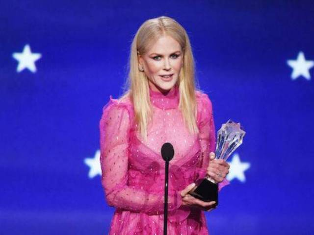 This Time, Nicole Kidman Thanks 'All of My Children' After Critics' Choice Win