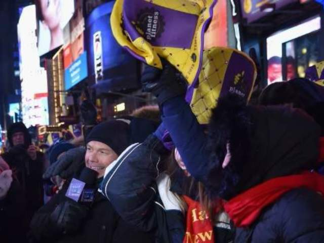 Planet Fitness Hats Pop up Everywhere During NYC New Year's Eve