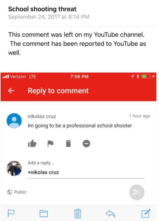nikolas-cruz-youtube-comment
