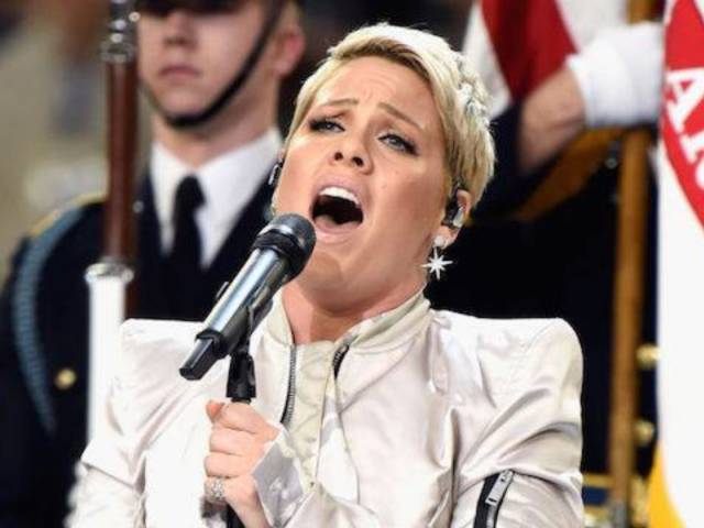 Pink Praised for Powering Through Flu to Perform National Anthem