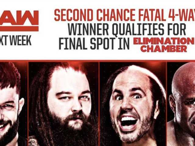 WWE Announces RAW Match to Determine Final Elimination Chamber Entrant