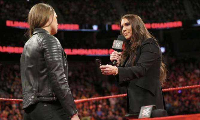 Stephanie McMahon Ronda Rousey WWE