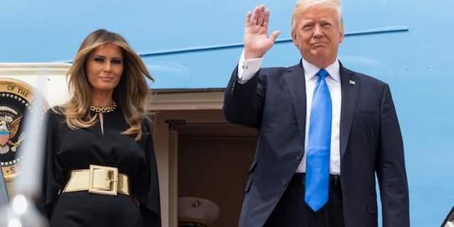 first-lady-melania-trump-president-donald-trump-potus-air-force-one