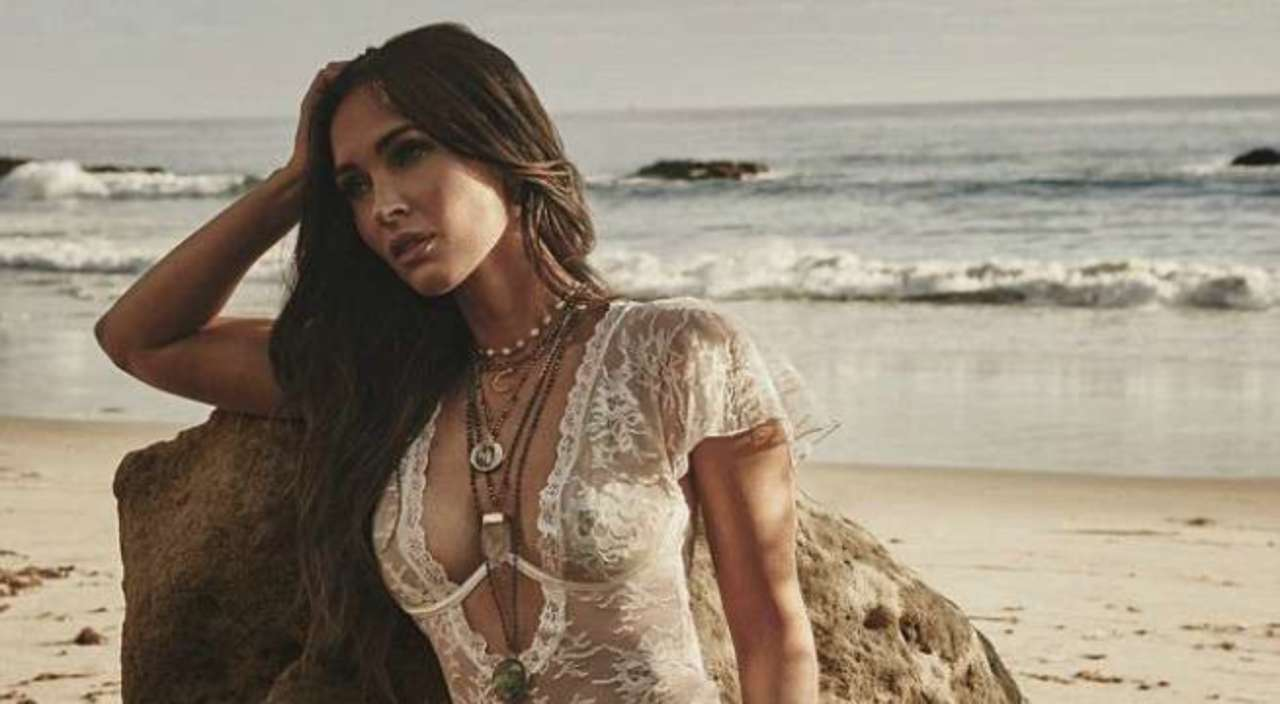 Megan Fox Takes the Bedroom to the Beach in Oceanside Lingerie Shoot