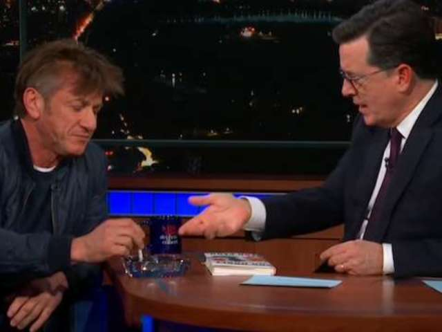 Sean Penn Admits to Being on Ambien as He Smokes His Way Through Talk Show Appearance