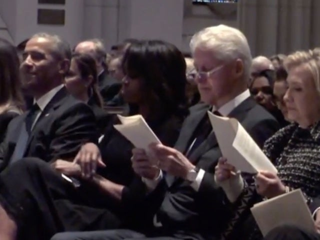 Former Presidents, Melania Trump Attend Barbara Bush's Funeral