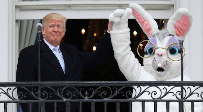 president-donald-trump-white-house-easter-egg-roll-easter-bunny-getty-Chip Somodevilla : Staff
