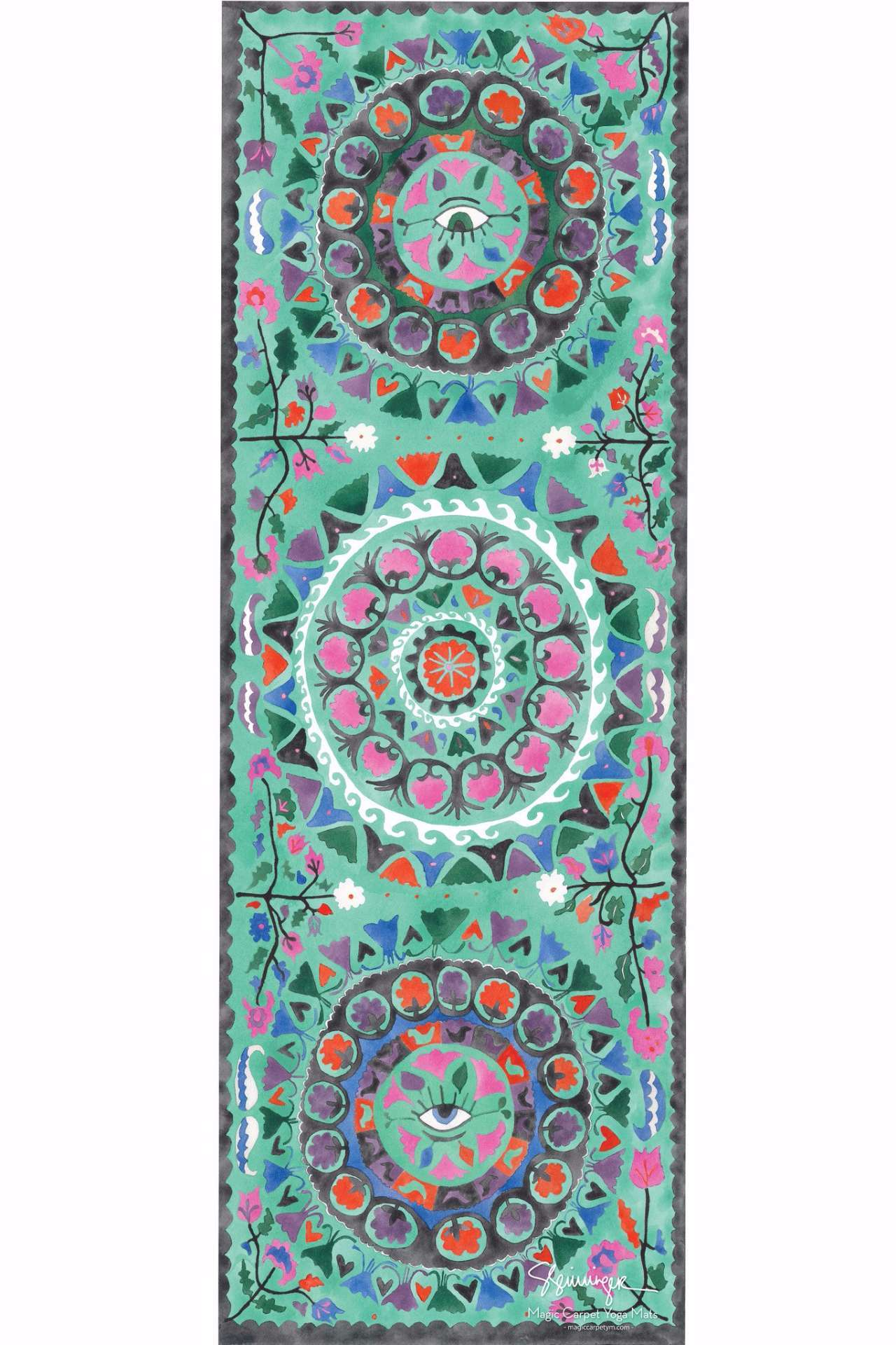 SUZANI MINT MAGIC CARPET YOGA MAT
