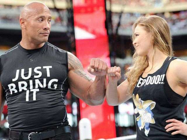 The Rock Explains Why He Didn't Team With Ronda Rousey at WrestleMania