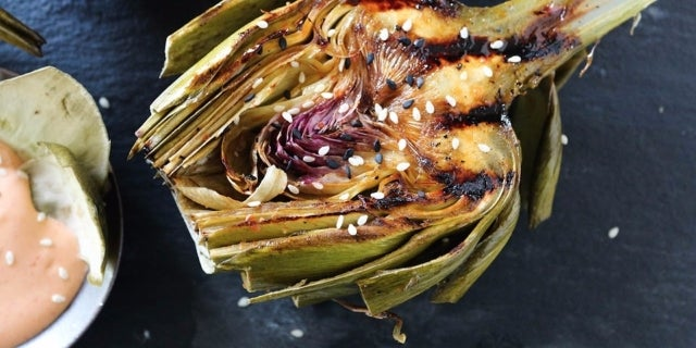 Asian-Grilled-Artichokes
