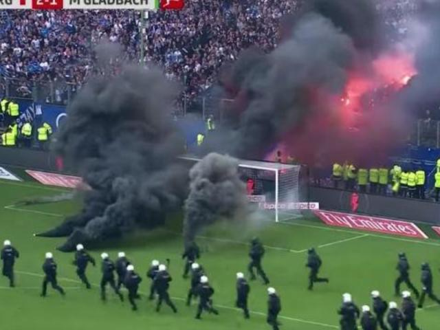 Tempers Literally Flare When Hamburg Soccer Fans Burn Field in Protest of Historic Relegation