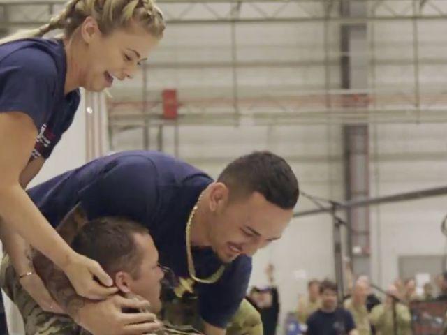 Watch UFC's Paige VanZant Put US Army Volunteer to Sleep