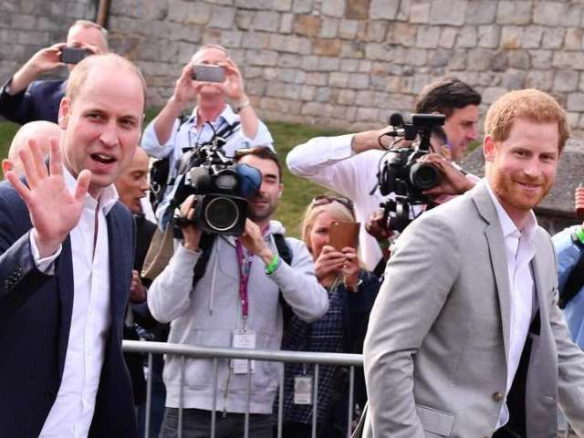 Watch Prince Harry and Prince William Greet Fans Ahead of Royal Wedding