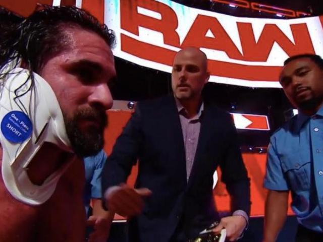 Seth Rollins Takes DQ Loss, Then Guitar to Spine on RAW