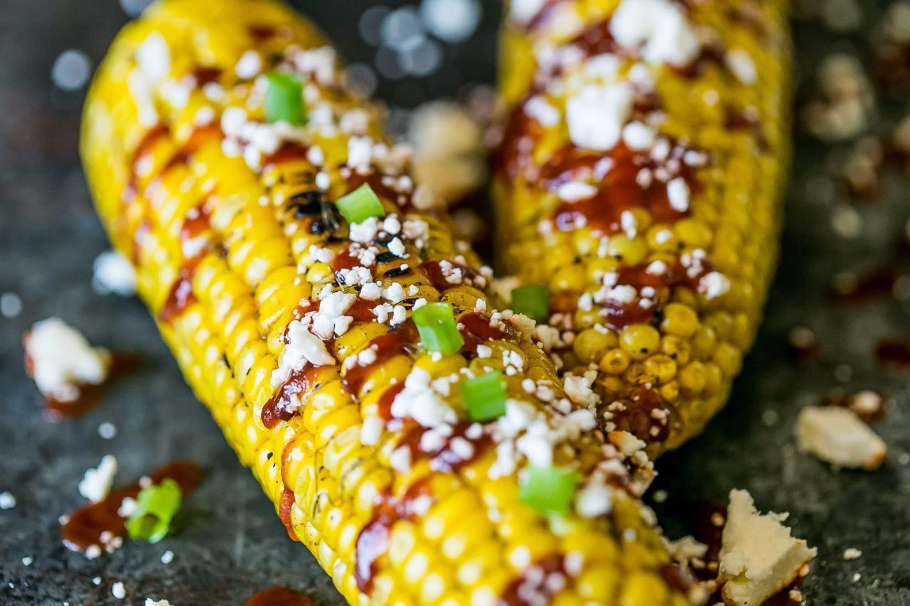 Sriracha Cheese Grilled Corn