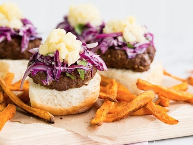 Recipe: Aloha Sliders with Cajun-style Sweet Potato Fries