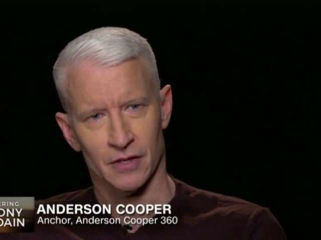 Anderson Cooper Holds Back Tears During CNN's Anthony Bourdain Tribute