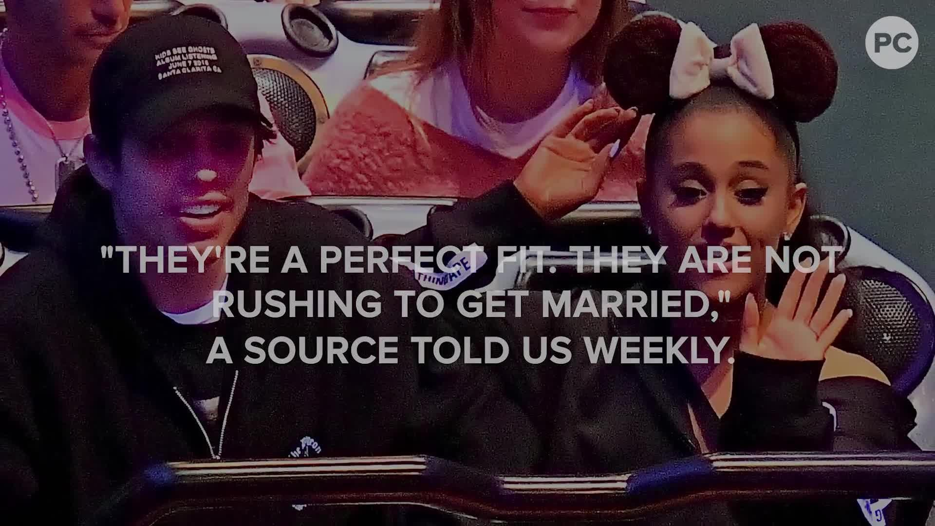 Ariana Grande and Pete Davidson Are Engaged screen capture