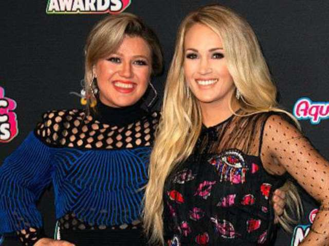 Kelly Clarkson Denies Carrie Underwood 'Secret Feud' After Tabloid Claim