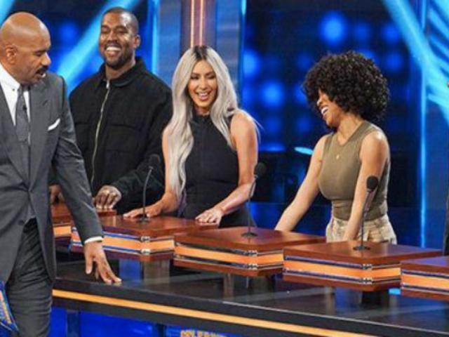 Kanye West Makes Rare 'KUWTK' Appearance During Tense 'Family Feud' Taping