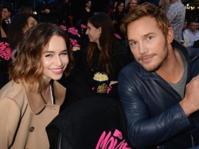 Chris Pratt Not Romancing Emilia Clarke, Despite Tabloid Gossip
