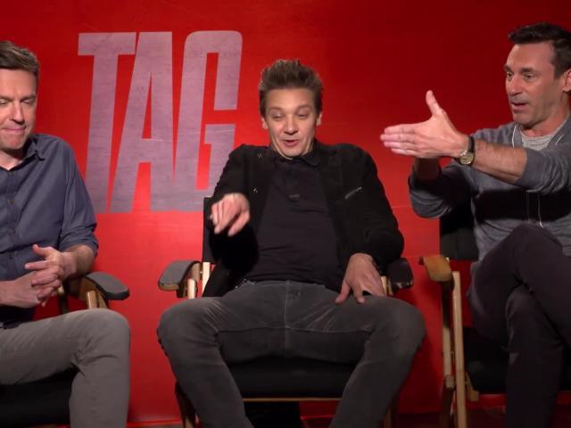 Ed Helms, Jeremy Renner and John Hamm Talk TAG