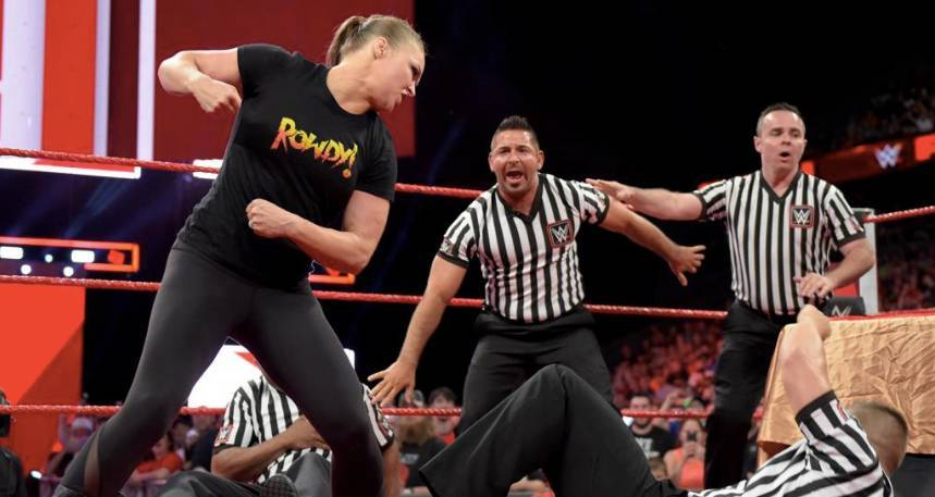 ronda rousey wwe hints will break suspension