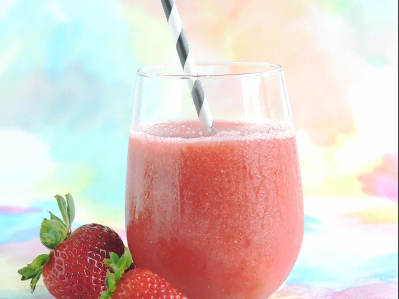 Strawberry Rosé Wine Slushies