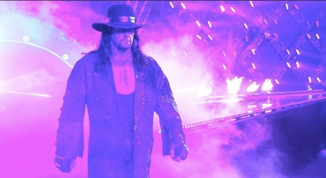 Undertaker wwe next match msg
