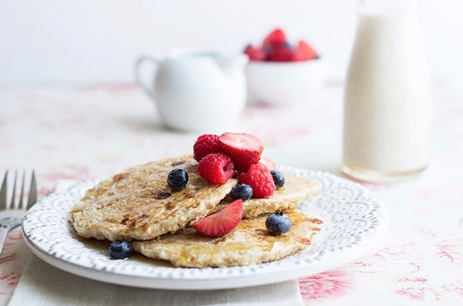vanilla-cinnamon-protein-pancakes