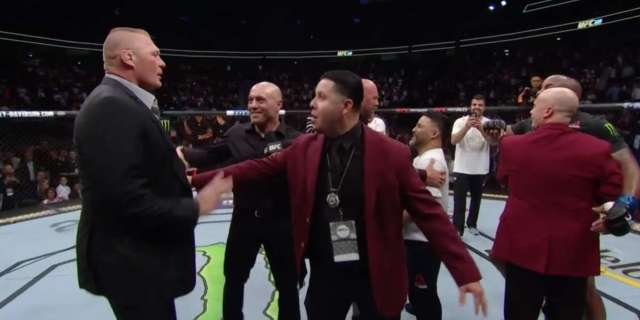 Brock Lesnar Attends UFC 226, Teases Title Fight with Daniel Cormier