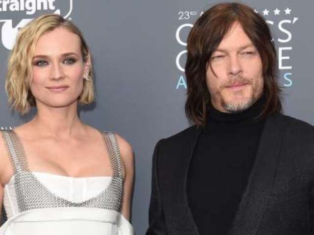 Diane Kruger Puckers up to 'Amazing' Boyfriend Norman Reedus in New Year's Eve Photo