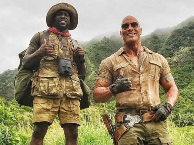 Dwayne 'The Rock' Johnson Jokingly Pitches 'Three Men and a Baby' Reboot With Kevin Hart and Seth Rogen