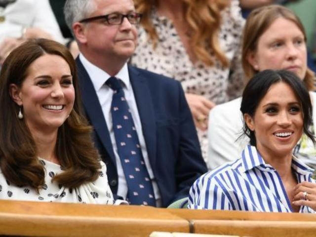 Meghan Markle and Kate Middleton Enjoy First Solo Outing Together at Wimbledon